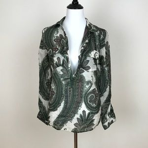 Size: Small Paisley Zara Button Up Blouse